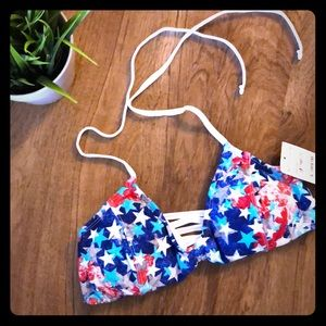 Other - NWT red, white & blue swim top